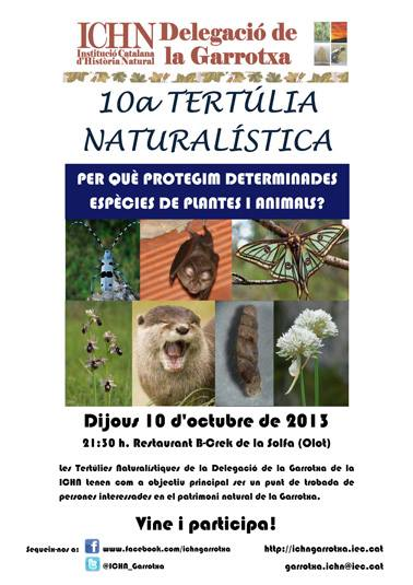 10a Tertúlia naturalística