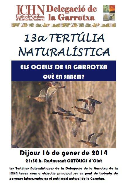 13a Tertúlia naturalística