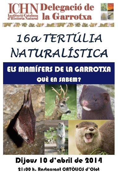 16a Tertúlia naturalística