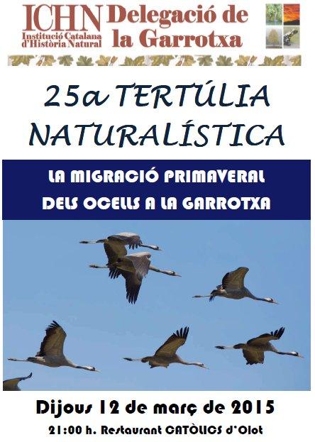 25a Tertúlia naturalística