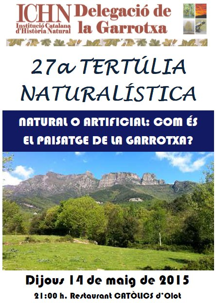27a Tertúlia naturalística