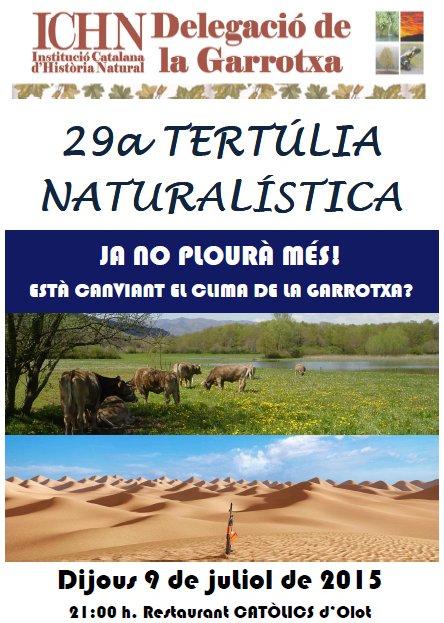 29a Tertúlia naturalística
