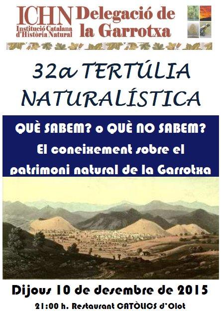 32a Tertúlia naturalística