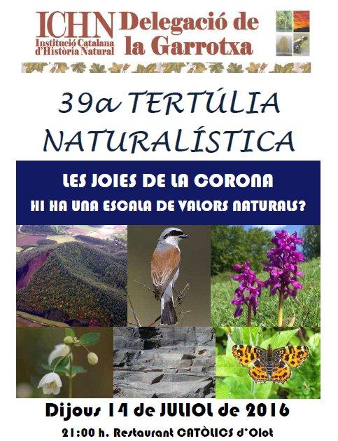 39a Tertúlia naturalística